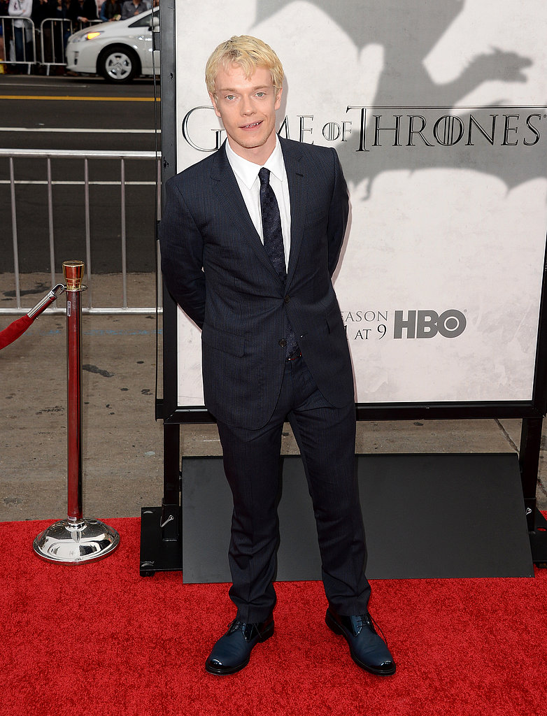 Alfie Allen showed off his blonde 'do.