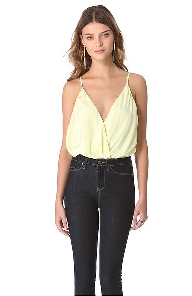 We love the light lemon hue and romantic draping detail on this Alice + Olivia Ballerina Bodysuit ($150, originally $187).