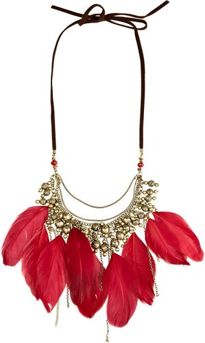 Feather Statement Choker Necklace