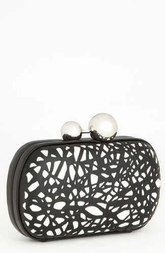 Diane von Furstenberg 'Sphere' Laser Cut Leather Clutch