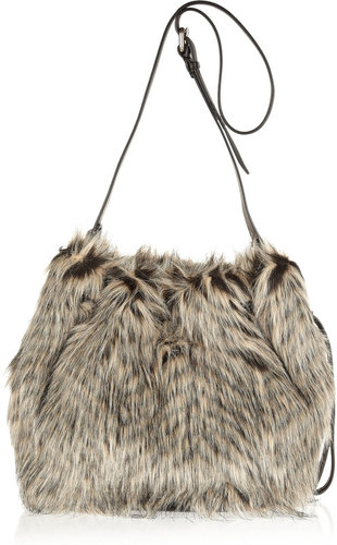 Marc by Marc Jacobs Regine faux fur bucket bag