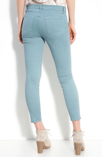 J Brand Mid-Rise Overdyed Skinny Jeans