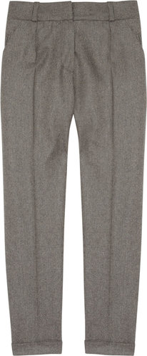 Carven Wool-flannel cropped pants