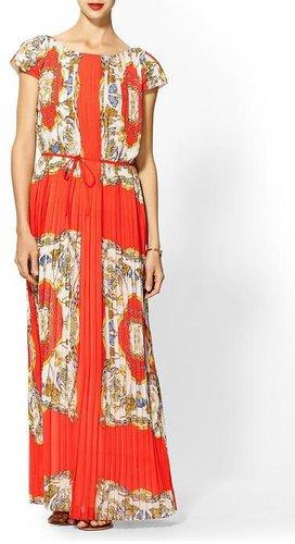 Sabine Scarf Print Maxi Dress