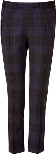 Sandro Navy/Black Plaid Pants