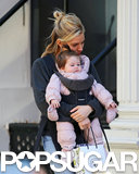 Sienna Miller carried Marlowe Sturridge and a bag in SoHo.