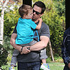 Mark Wahlberg With Son Brendan at a Park | Pictures
