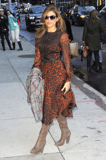 Eva Mendes donned Dolce & Gabbana in NYC.
