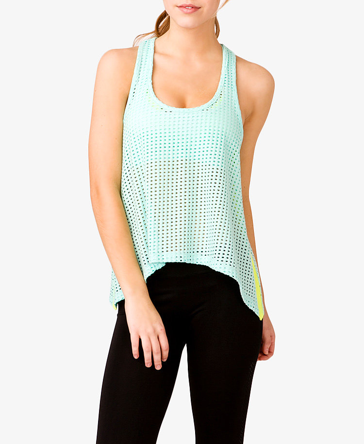 Forever 21 Perforated Trapeze Tank