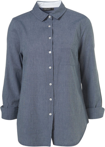 Blue Oxford Collar Shirt