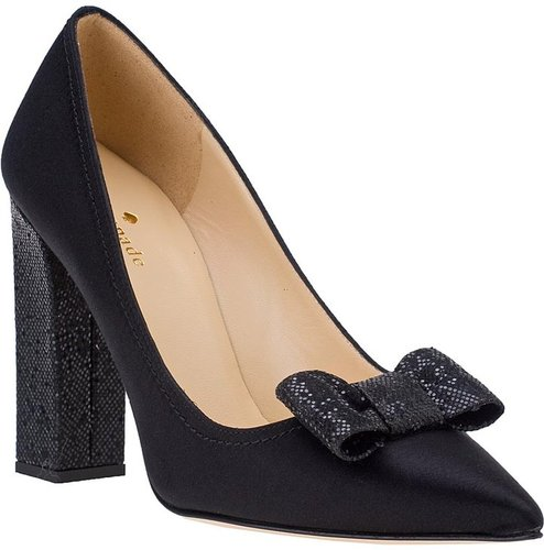 KATE SPADE Leena Evening Pump Black Satin