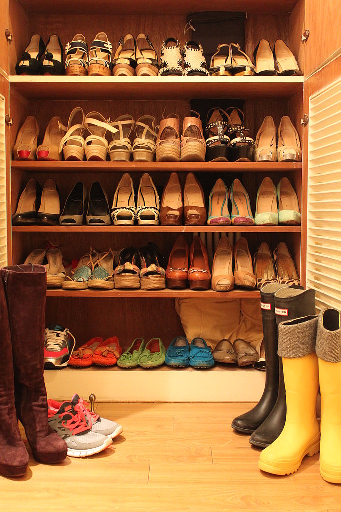 I am shoe crazy. As I generally wear pieces from my own label (Gasparre Cashmere), shoes & handbags are mostly what I shop for.
