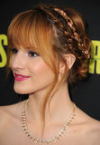 Bella Thorne's rope braids add some feminine flair to a regular old updo.