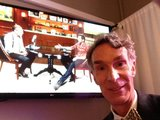 Bill Nye (the Science Guy) shared that he started out years ago with fellow talk-show guest Joel McHale on the Almost Live show in Seattle. Source: Twitter user TheScienceGuy