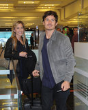 Orlando Bloom arrived in Turkey.