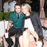 Kaitlin Olson and Rob McElhenney sipped on beverages.  Source: Aleks Kocev /BFAnyc.com