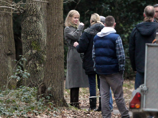 Nicole Kidman filmed on the British countryside.