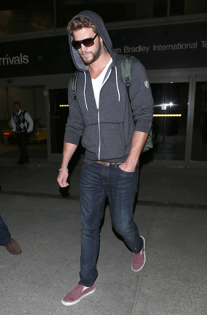 Liam Hemsworth Lands in LA While Questions About Miley Cyrus Linger