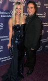 Kaley Cuoco and Johnny Galecki laughed on the red carpet.