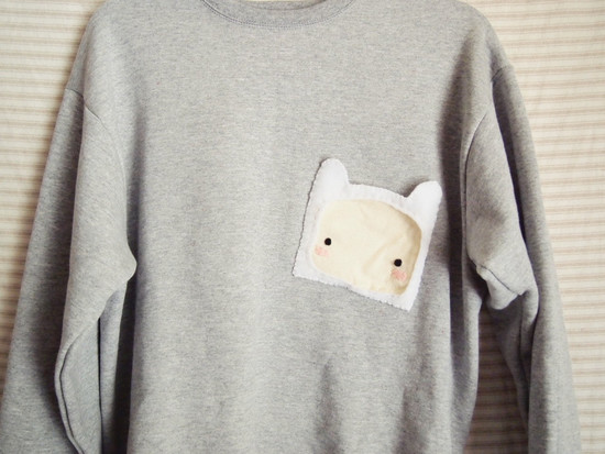 Finn the Human Asymmetrical Pocket Sweater