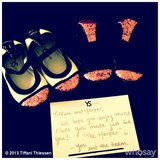 Tiffani Thiessen showed off the cute pair of shoes Yosi Samra created for Harper. Source: Instagram user tathiessen