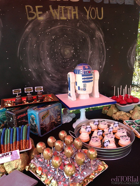 The Star Wars dessert table, created by the amazing Sweet and Saucy Shop!