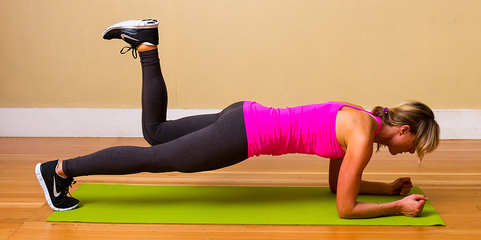 No Equipment Necessary: Elbow Plank With Donkey Kick