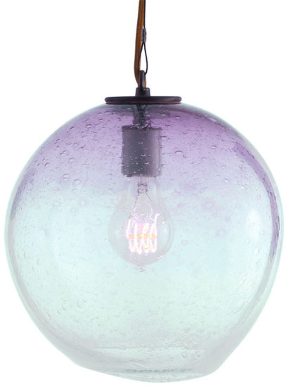 A beautiful ombré effect makes this handblown sphere pendant ($1,195) all the more striking.