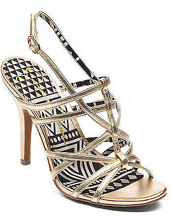 JESSICA SIMPSON Primrose Metallic High-Heel Sandals