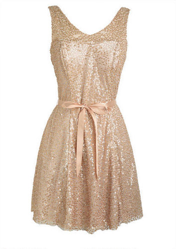 Gold Ribbon Dress