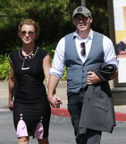 Britney Spears Holds Hands With David During a Shopping Trip