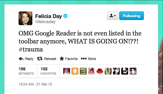Don't worry, Felicia Day — we've got some Google Reader alternatives for ya.