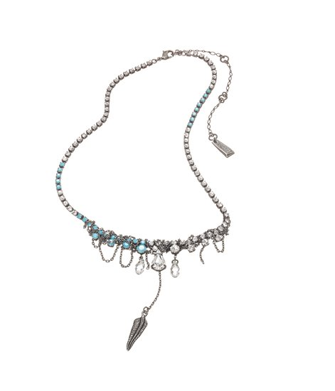 Zoë Kravitz for Swarovski Crystallized Sierra Short Necklace ($194)