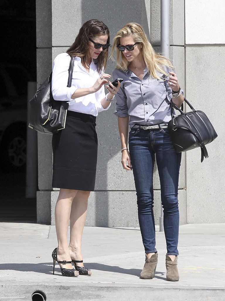 Jennifer Garner wore heels for a meeting in LA.