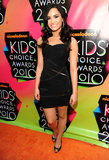 Demi Lovato's edged-up LBD fit her like a glove at the 2010 awards.