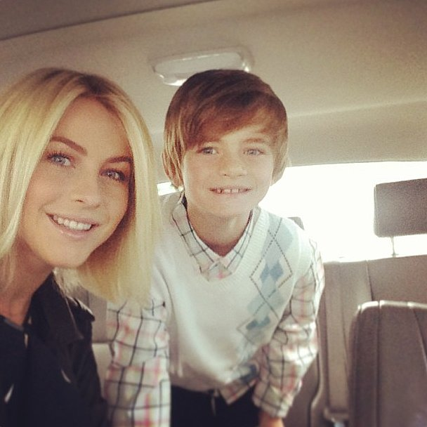 Julianne Hough shared a snap on her way to church on Easter Sunday.  Source: Instagram user juleshough