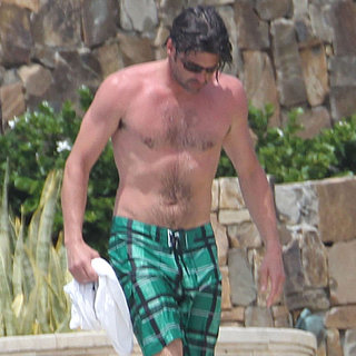 Patrick Dempsey Shirtless on Vacation With Family