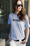 """There truly aren't many """"words"""" to describe how cool Emerson Fry's Word Tee ($68) is. I'll be wearing it all season, with everything from wide-legged jeans and slouchy printed shorts for daytime to an edgy pair of leather leggings for the weekend.  — Britt Stephens"""