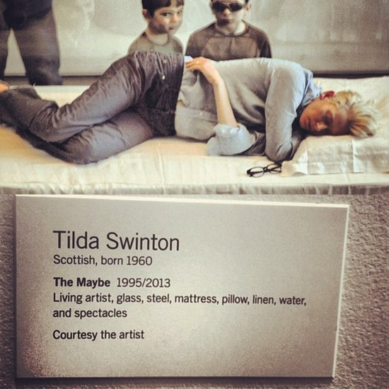 "Chloë Moretz shared a picture of ""The Maybe,"" Tilda Swinton's exhibit at MoMa. Source: Instagram user cmoretz"