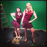 Raising Hope's Kate Micucci filmed a YouTube skit. Source: Instagram user katemicucci