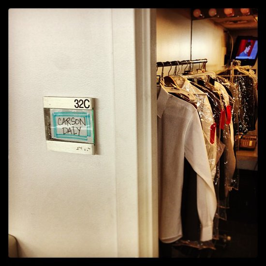 Carson Daly bragged about his sweet dressing room. Source: Instagram user carsondaly