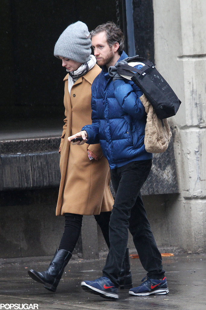 Anne Hathaway and Adam Shulman walked and talked in NYC.