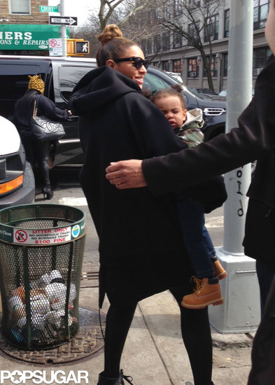 Beyoncé Knowles carried Blue in Brooklyn. 