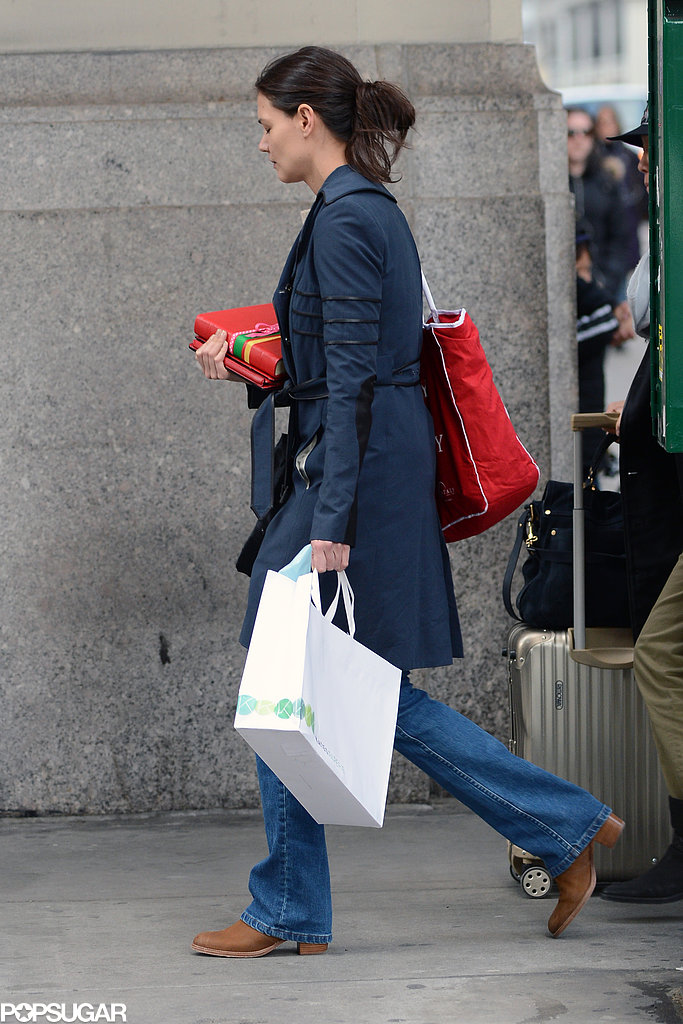 Katie Holmes ran errands around town.