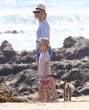 Naomi Watts hung out with Kai on the beach.