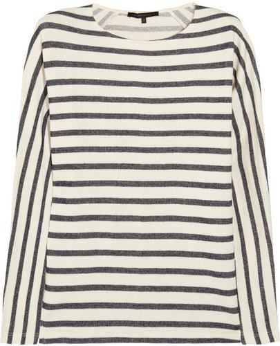 Victoria Beckham Denim Striped cotton top