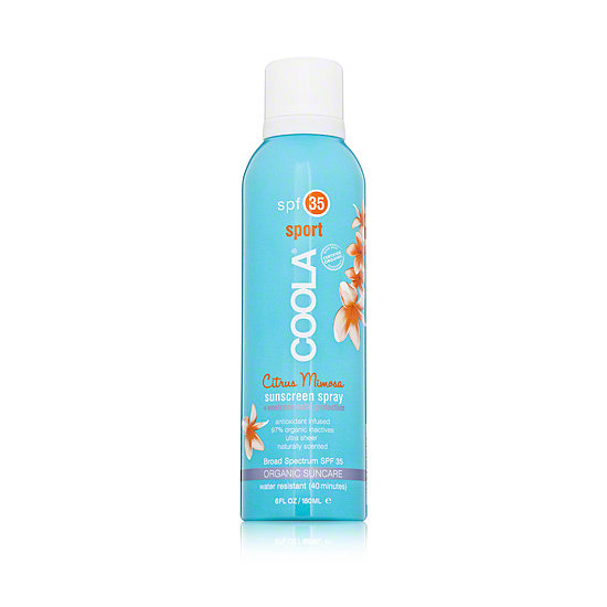 Coola Sport's Sunscreen Spray in Citrus Mimosa ($32) has SPF 35 coverage and smells like a tasty beachside cocktail.