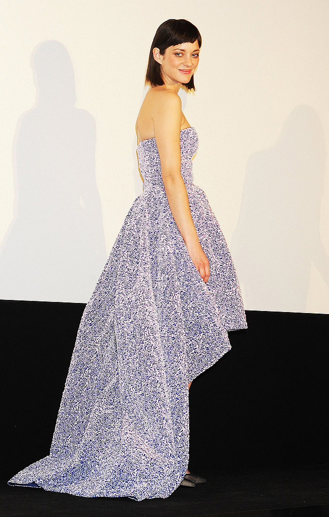 Marion Cotillard showed off her Dior dress.