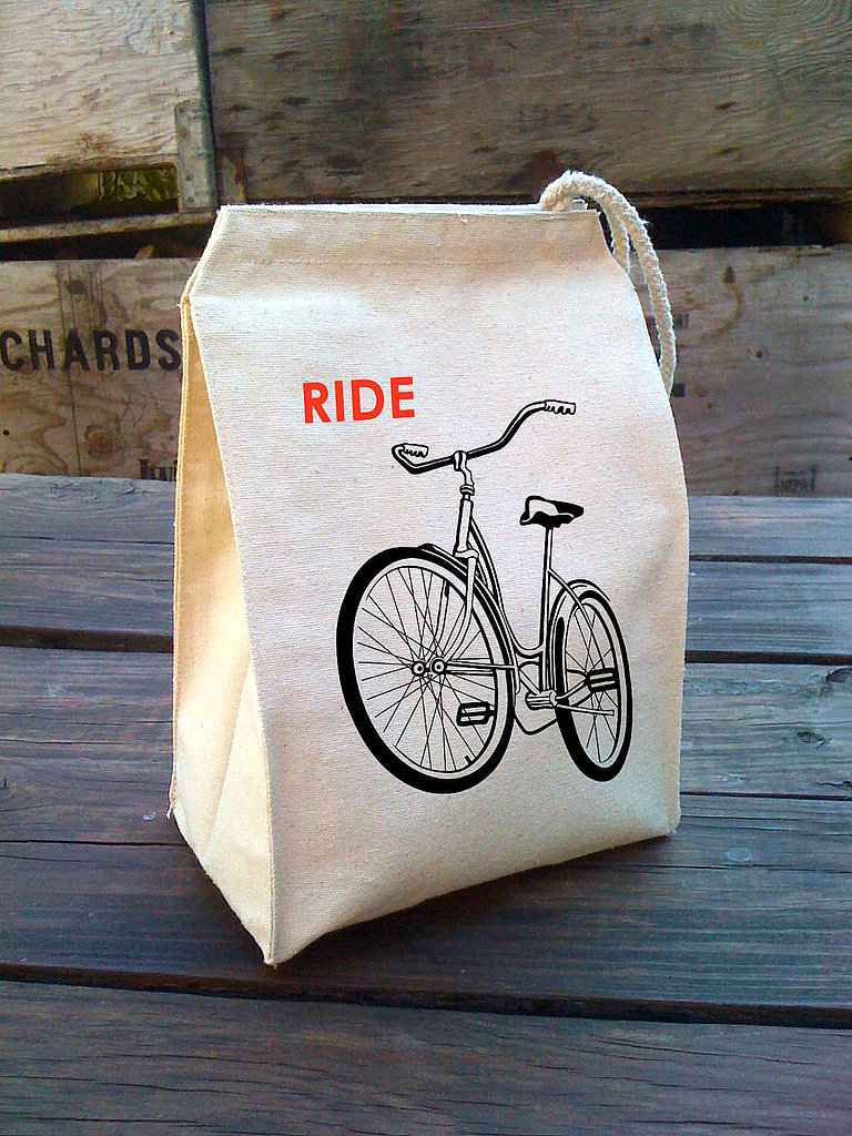 Give her lunch box a bike-themed upgrade with this eco-friendly bicycle lunch bag ($22).