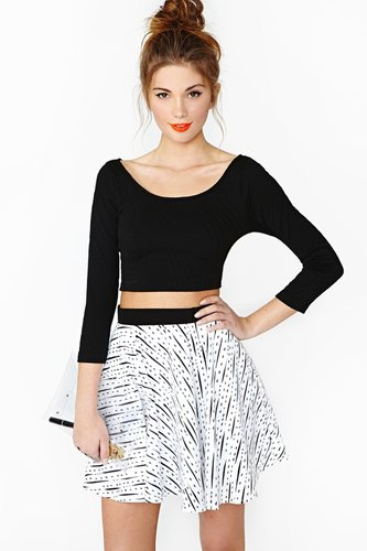 Caprice Crop Top - Black